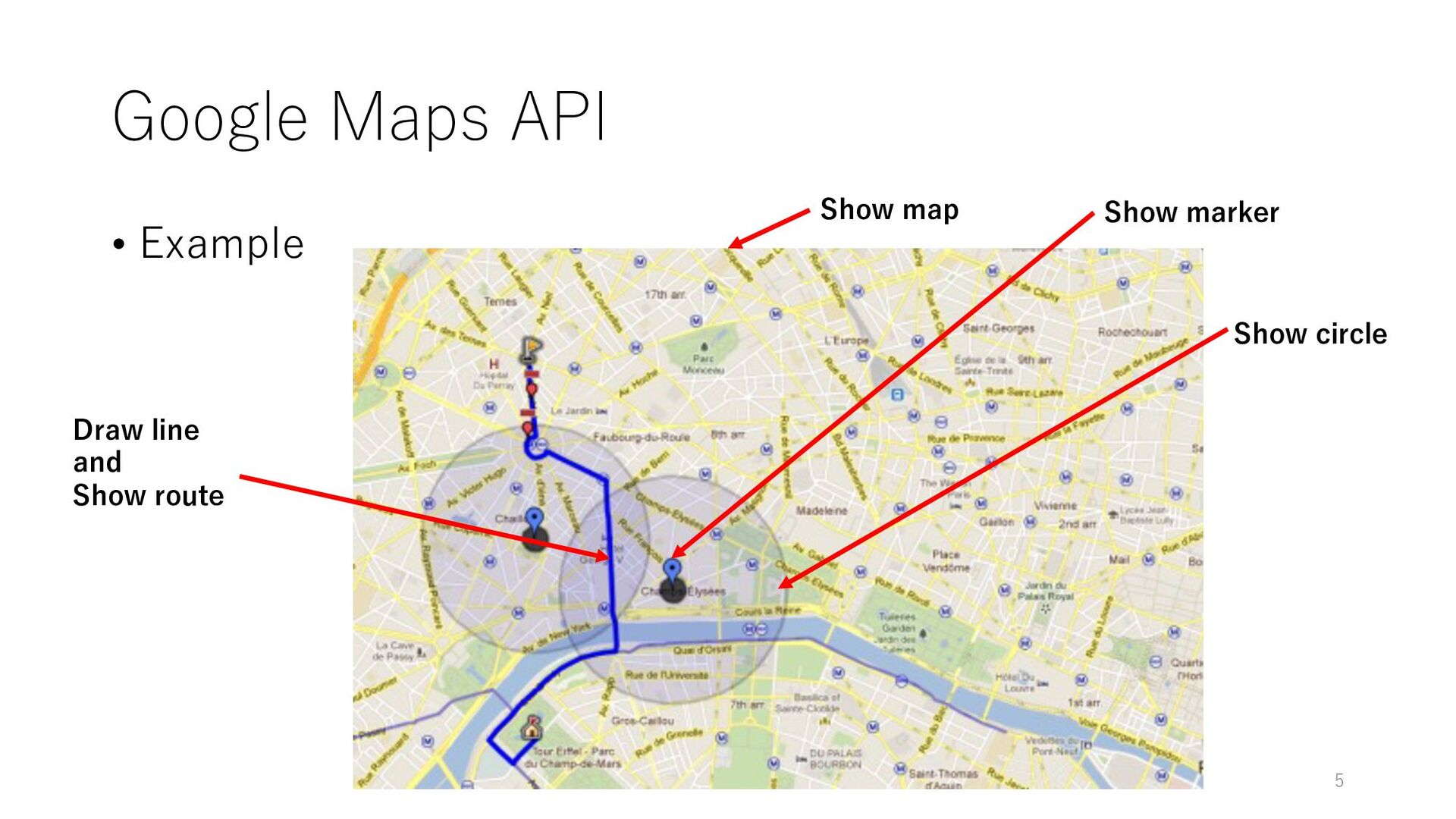 Google Maps API • Example Show map Show marker ...