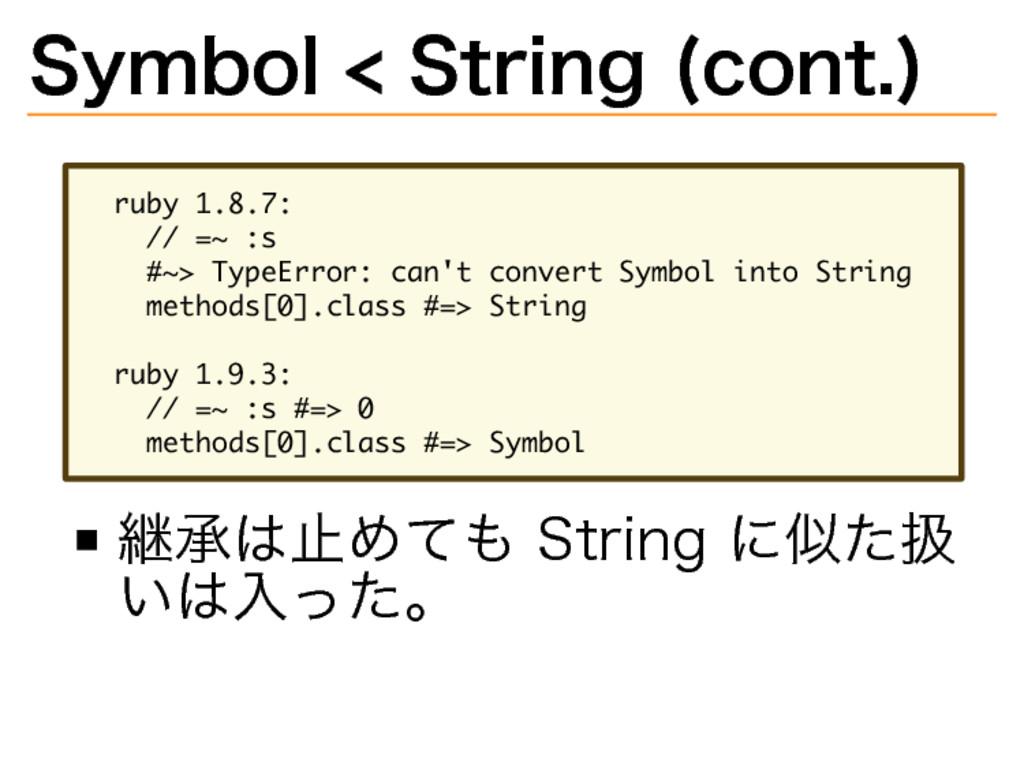 Symbol�<�String�(cont.) ����������� ���������� ...