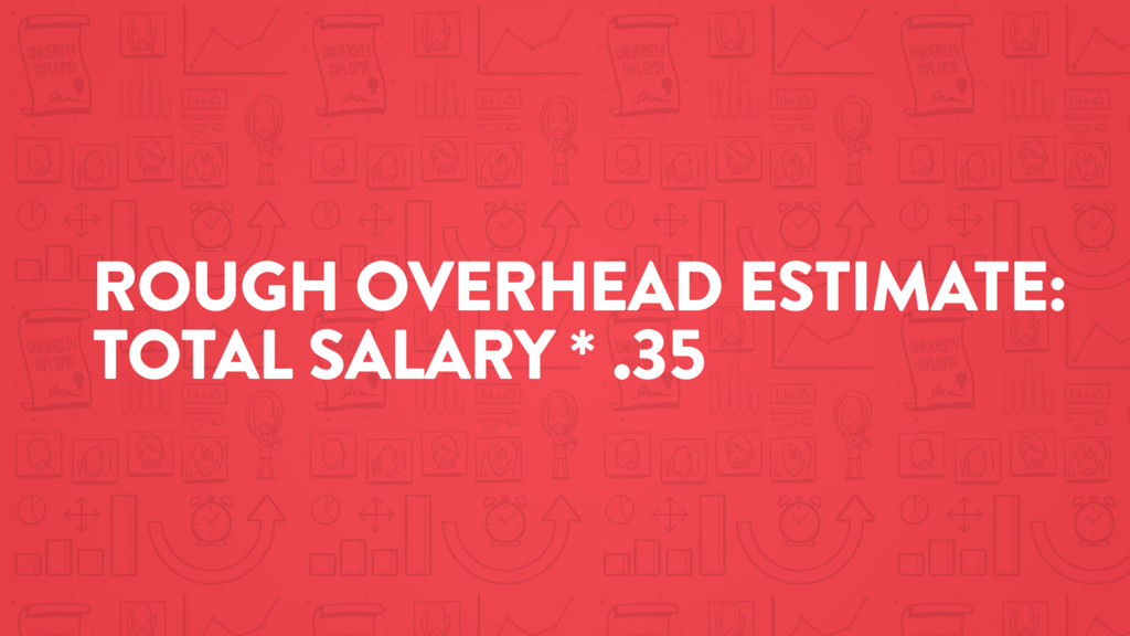 ROUGH OVERHEAD ESTIMATE: TOTAL SALARY * .35