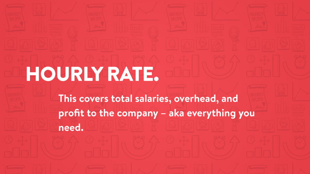 HOURLY RATE. This covers total salaries, overhe...