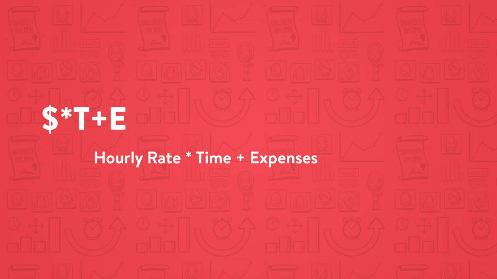 $*T+E Hourly Rate * Time + Expenses