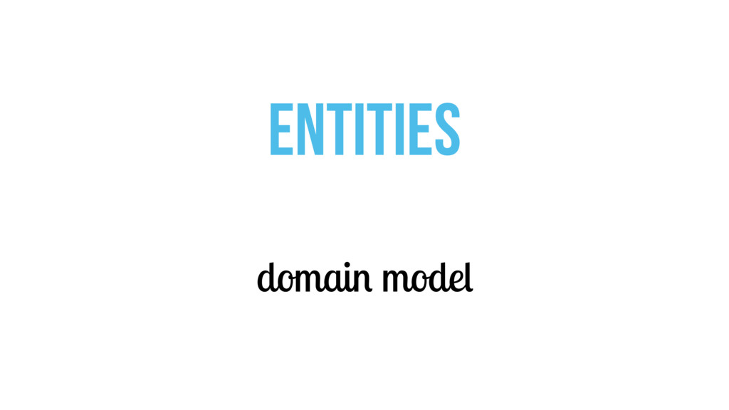 domain model ENTITIES