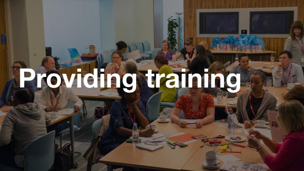 GDS GDS Providing training