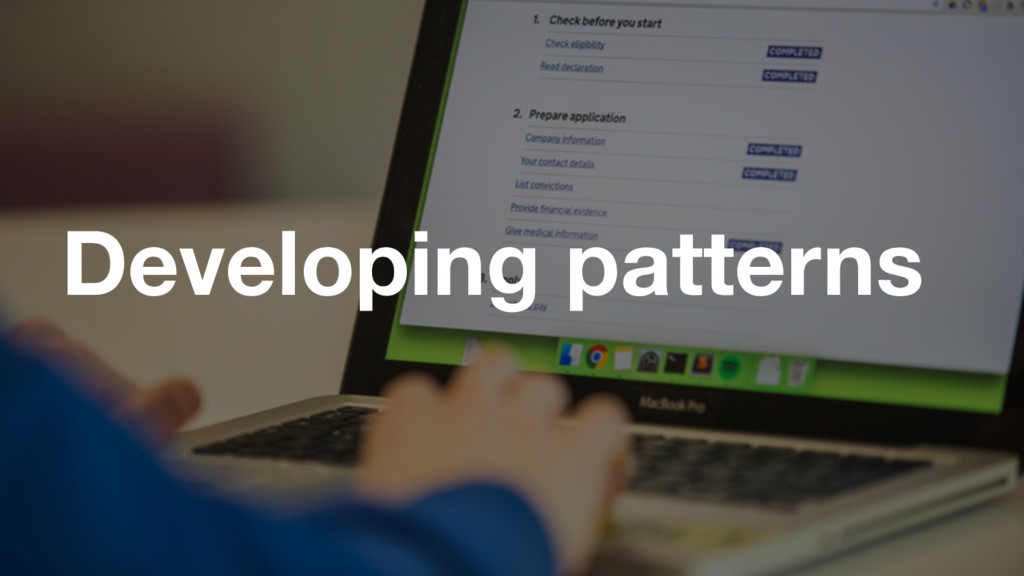 GDS Developing patterns