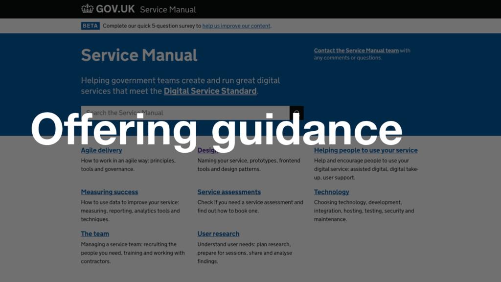 GDS Offering guidance