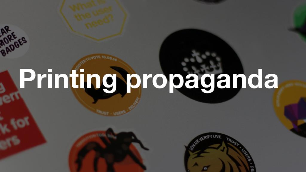 GDS Printing propaganda