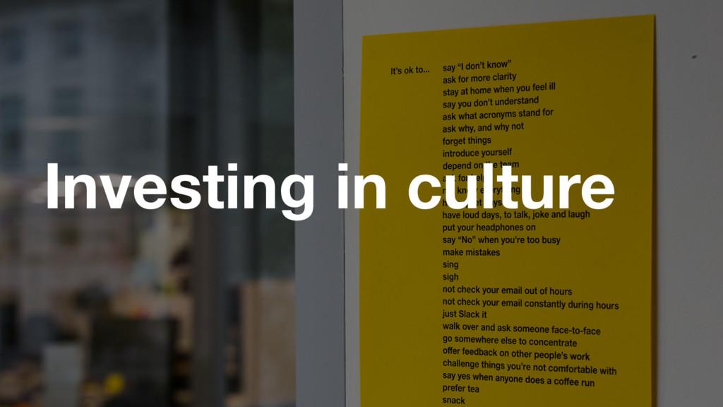 GDS Investing in culture