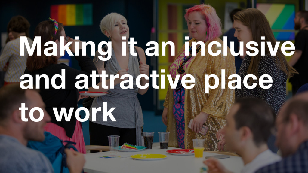 GDS Making it an inclusive and attractive place...