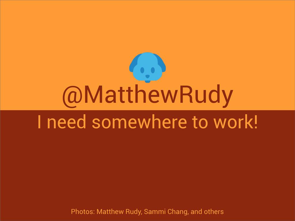 @MatthewRudy I need somewhere to work! Photos: ...