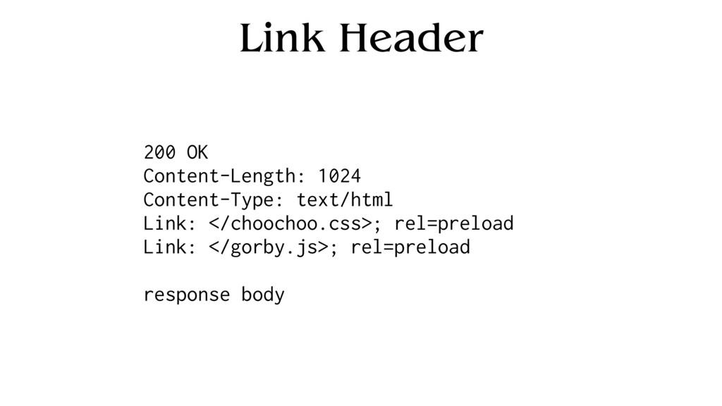 Link Header 200 OK Content-Length: 1024 Content...