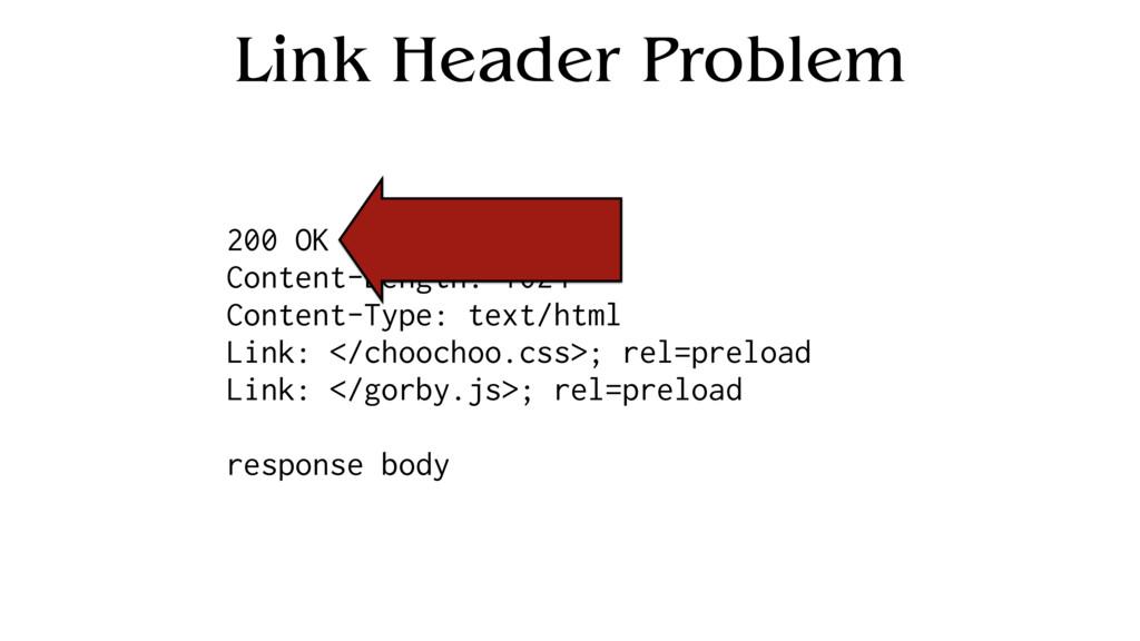 Link Header Problem 200 OK Content-Length: 1024...