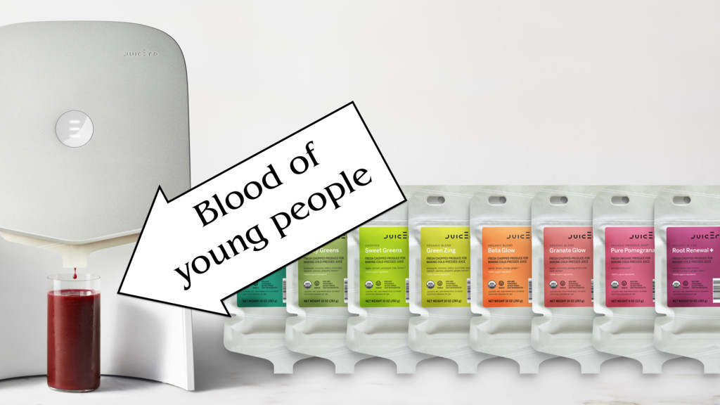 Blood of young people