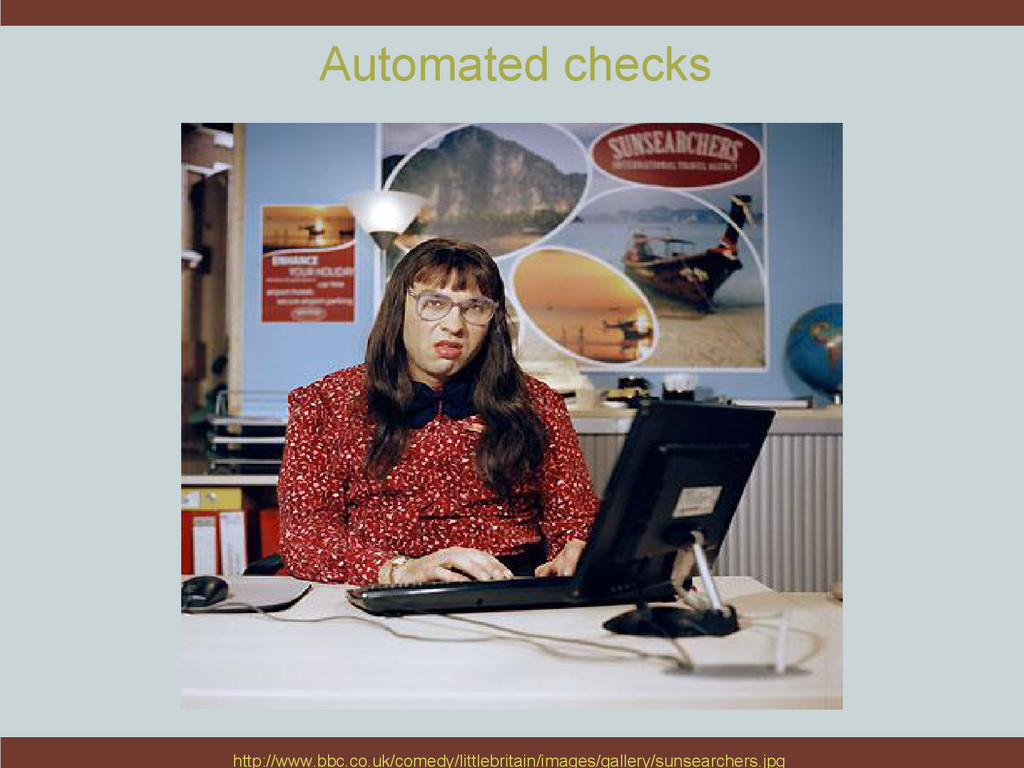 Automated checks http://www.bbc.co.uk/comedy/li...