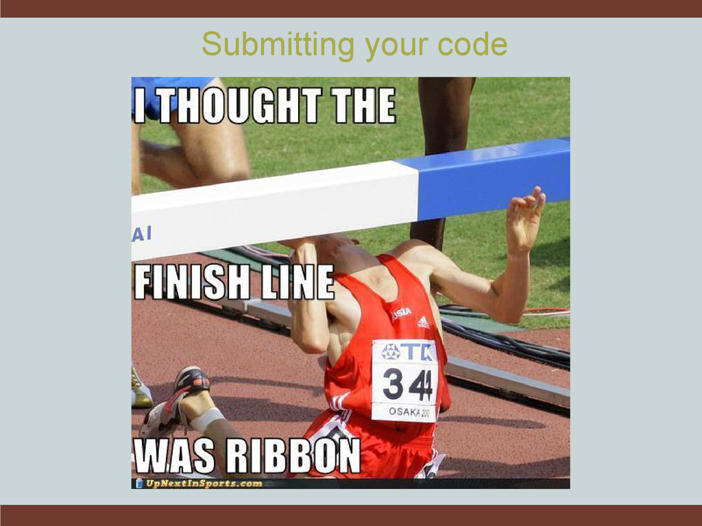 Submitting your code