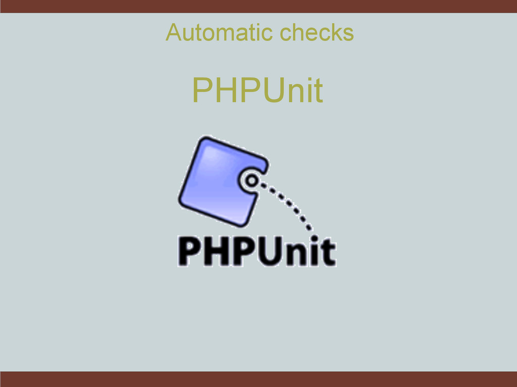 Automatic checks PHPUnit