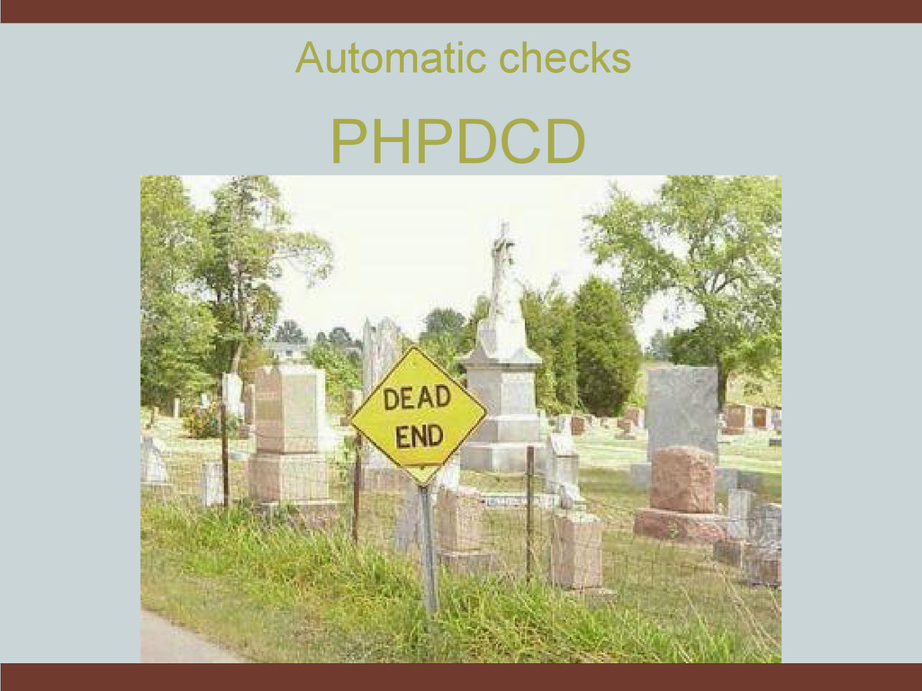 PHPDCD Automatic checks