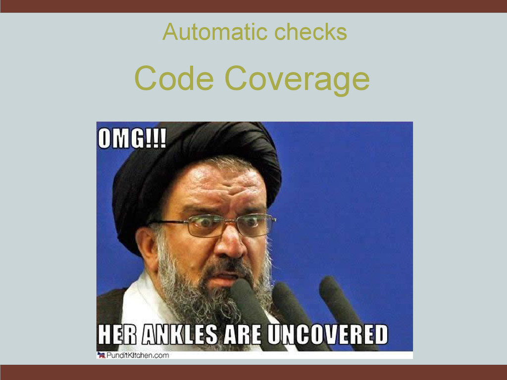 Automatic checks Code Coverage