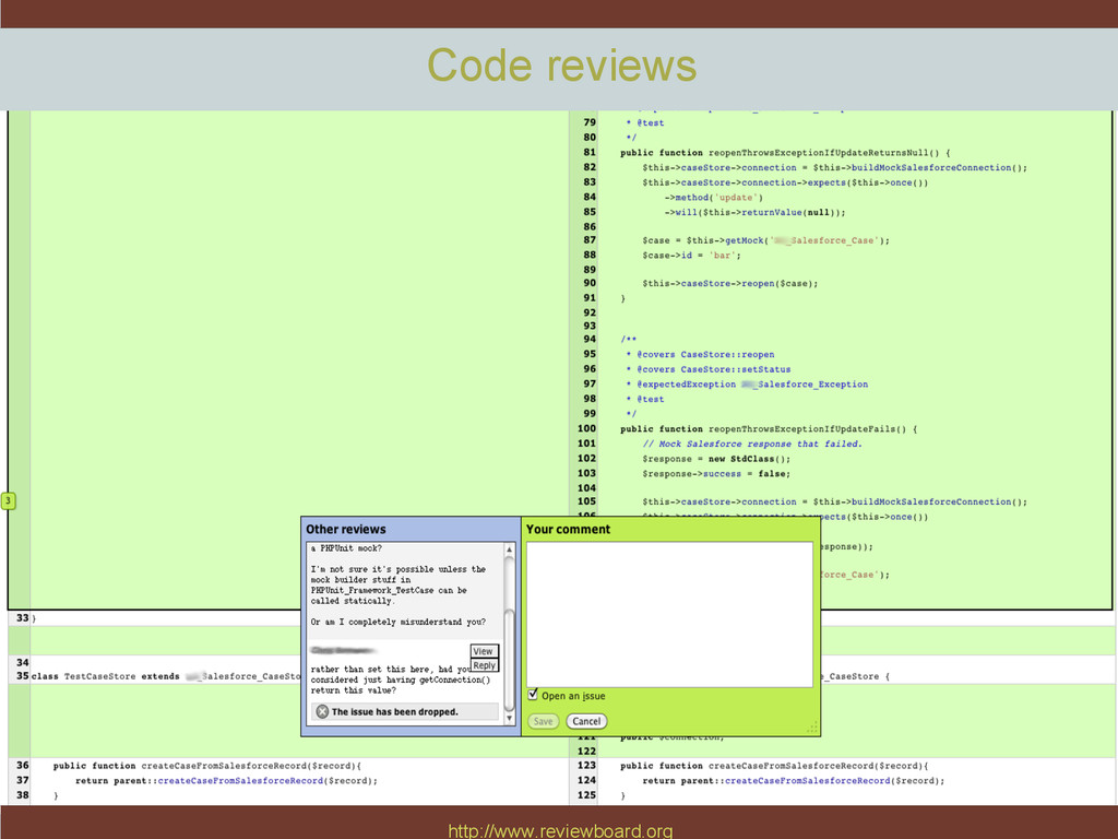 http://www.reviewboard.org Code reviews