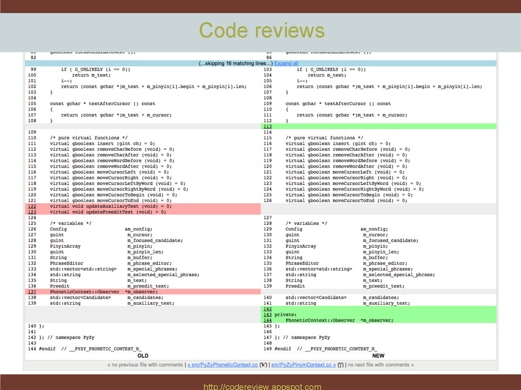 http://codereview.appspot.com Code reviews