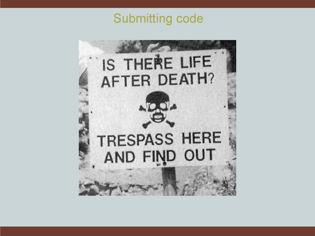 Submitting code