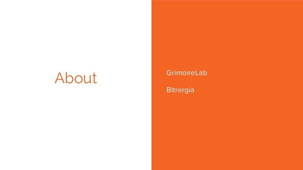 GrimoireLab Bitrergia About Bitergia