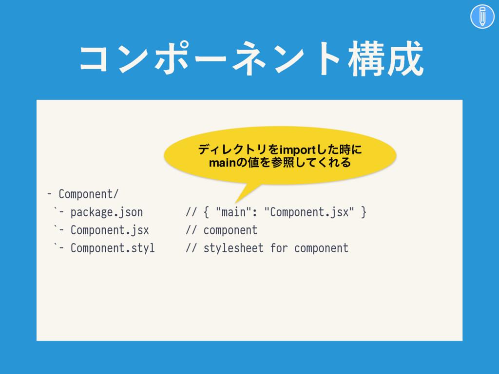 """ίϯϙʔωϯτߏ - Component/ `- package.json // { """"ma..."""