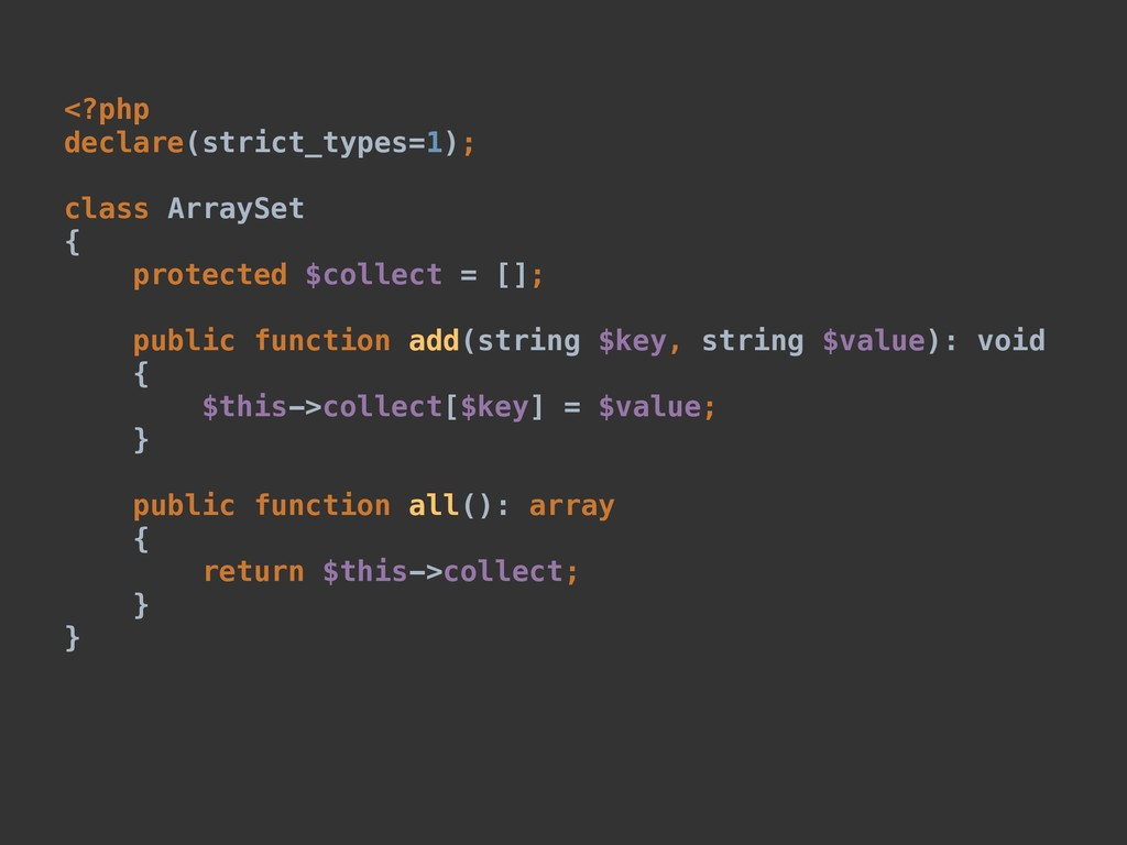 <?php declare(strict_types=1); class ArraySet {...