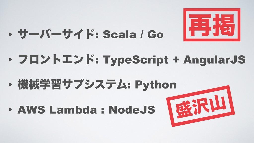 • αʔόʔαΠυ: Scala / Go • ϑϩϯτΤϯυ: TypeScript + A...