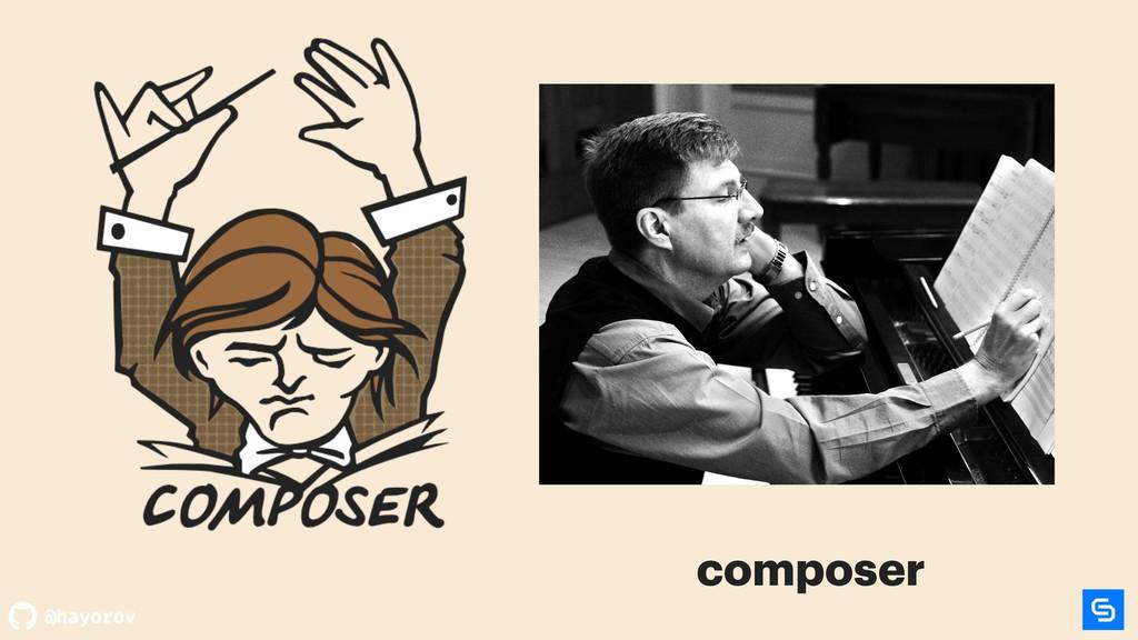 @hayorov Dependency Manager for composer