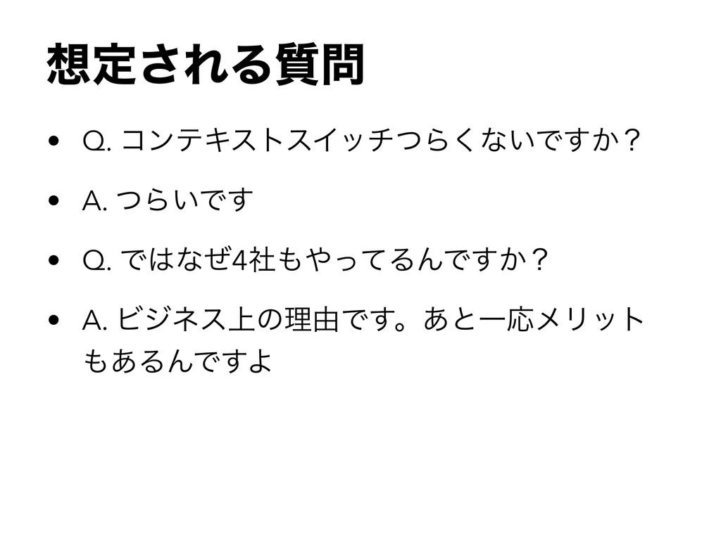 ఆ͞ΕΔ࣭ • Q. ίϯςΩετεΠονͭΒ͘ͳ͍Ͱ͔͢ʁ • A. ͭΒ͍Ͱ͢ • Q...