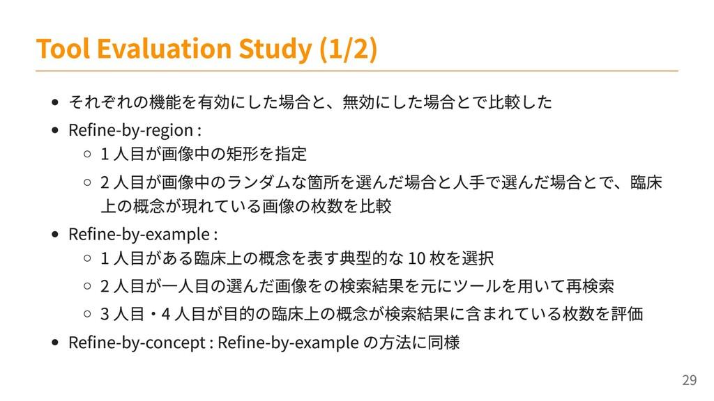 それぞれの機能を有効にした場合と、無効にした場合とで比較した Refine-by-region...
