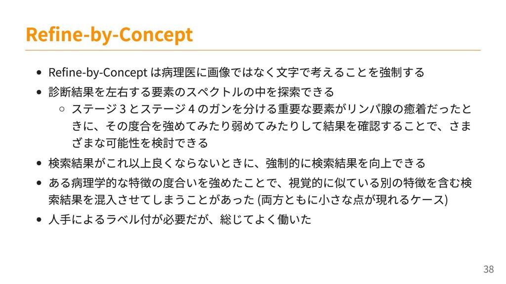 Refine-by-Concept は病理医に画像ではなく文字で考えることを強制する 診断結果...
