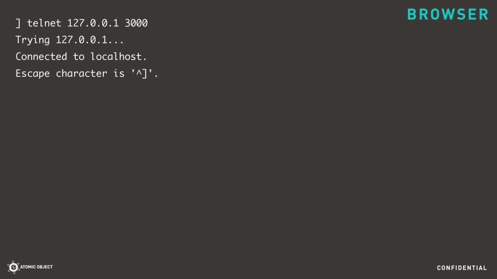 CONFIDENTIAL ] telnet 127.0.0.1 3000 Trying 127...