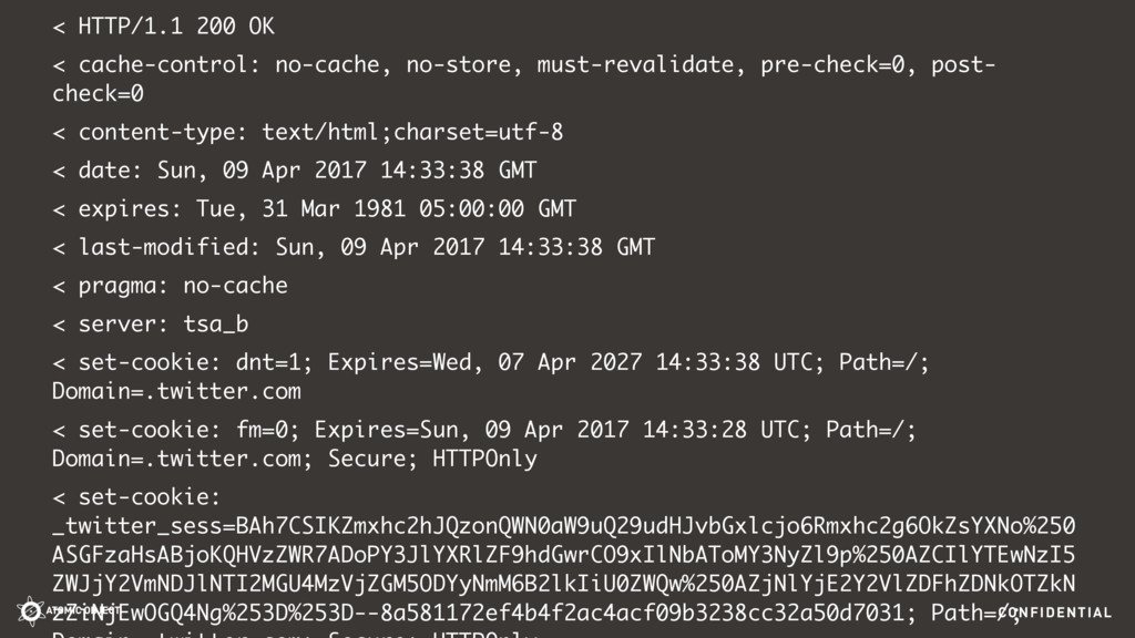 CONFIDENTIAL < HTTP/1.1 200 OK < cache-control:...