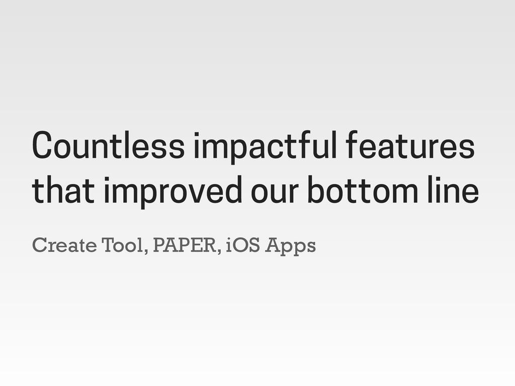 Create Tool, PAPER, iOS Apps Countless impactfu...
