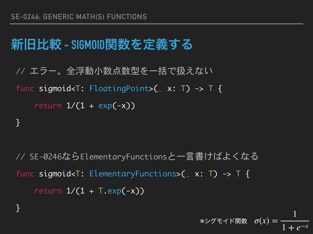 SE-0246: GENERIC MATH(S) FUNCTIONS ৽چൺֱ - SIGMO...