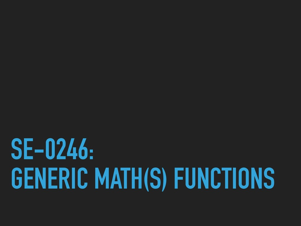 SE-0246: