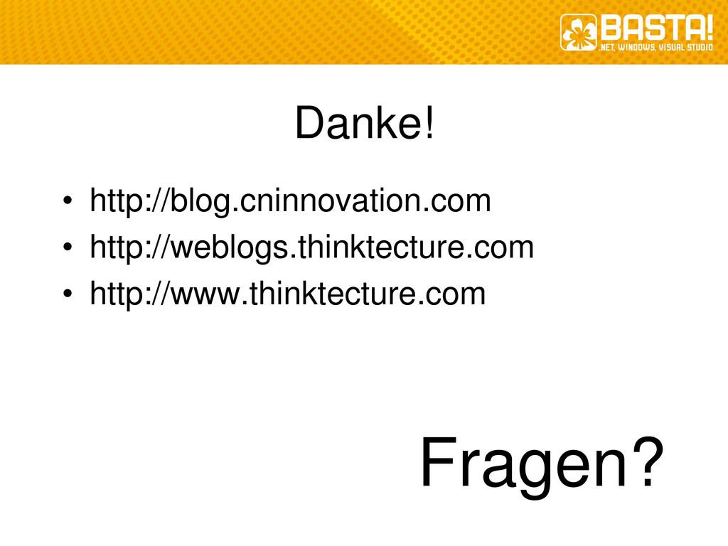 Danke! • http://blog.cninnovation.com • http://...