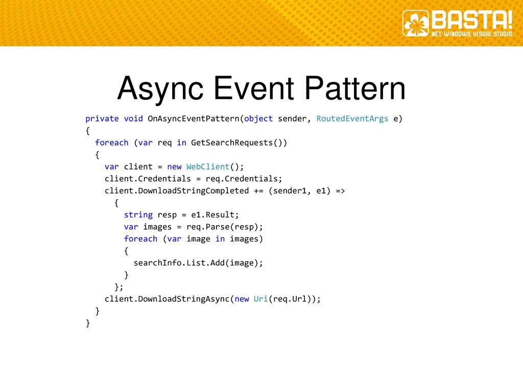 Async Event Pattern private void OnAsyncEventPa...