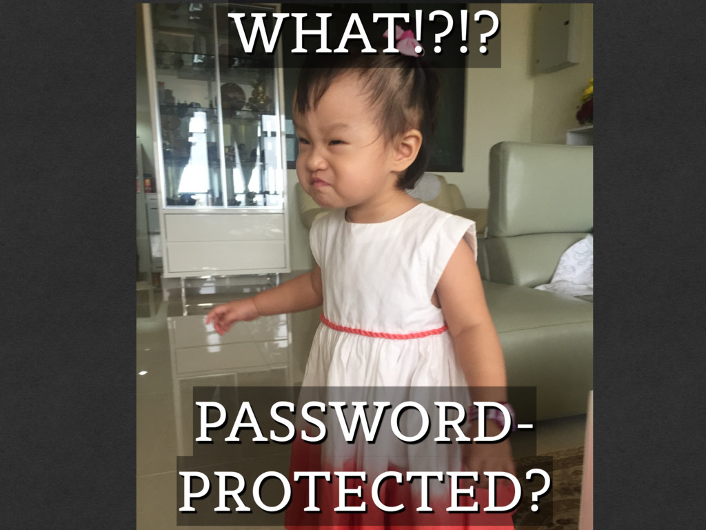 PASSWORD- PROTECTED? WHAT!?!?