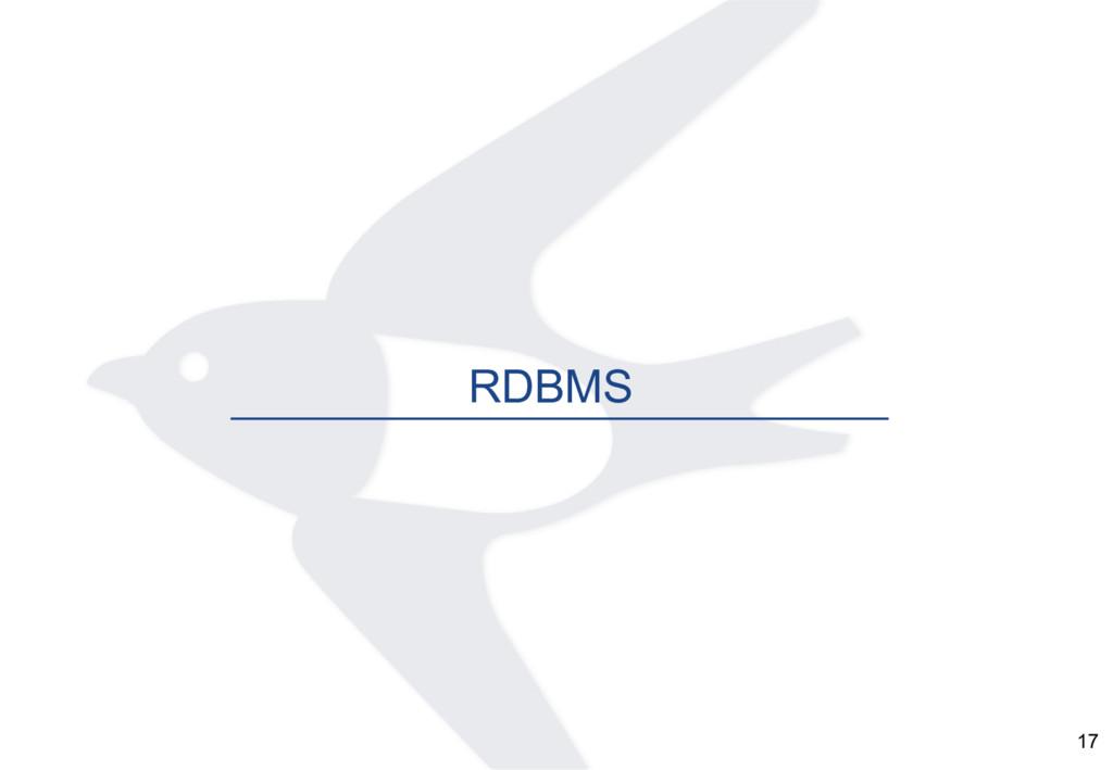 17 RDBMS