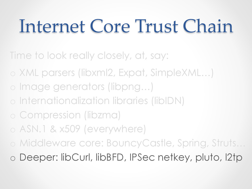 Internet Core Trust Chain Time to look rea...