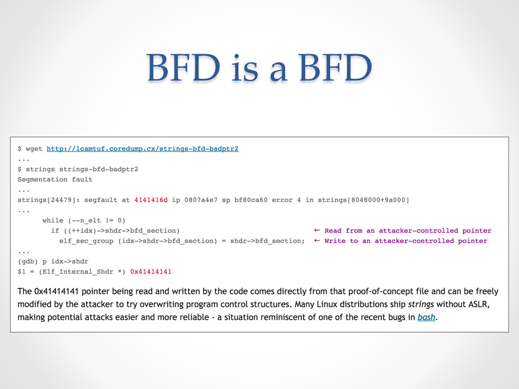 BFD is a BFD