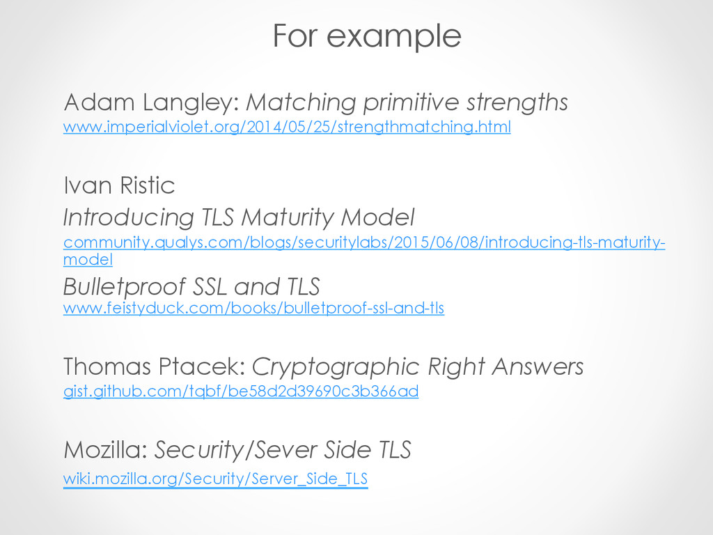 For example Adam Langley: Matching primitive st...