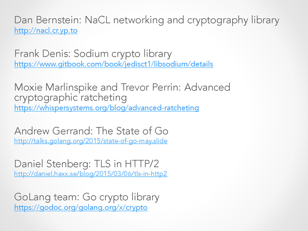 Dan Bernstein: NaCL networking and cryptography...