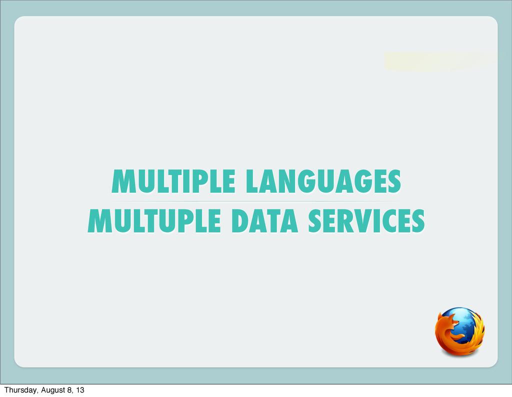 MULTIPLE LANGUAGES MULTUPLE DATA SERVICES Thurs...