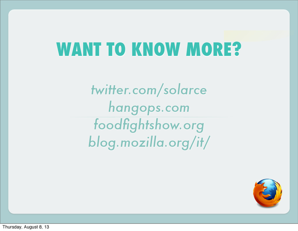 WANT TO KNOW MORE? twitter.com/solarce hangops....