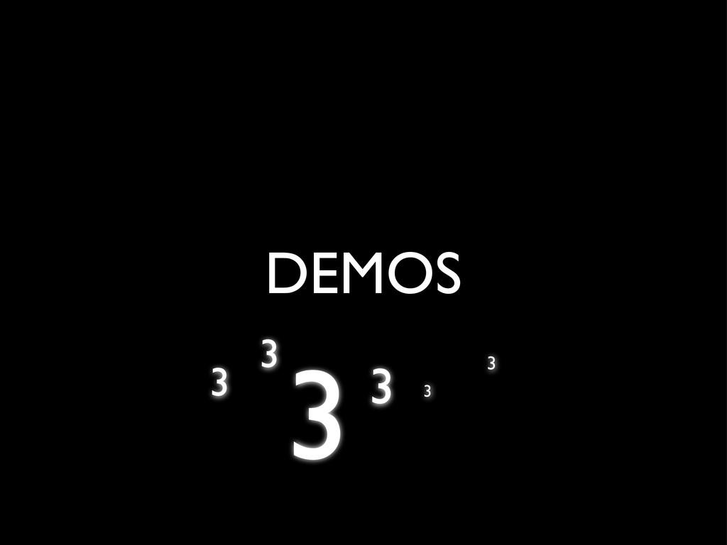 DEMOS 3 3 3 3 3 3