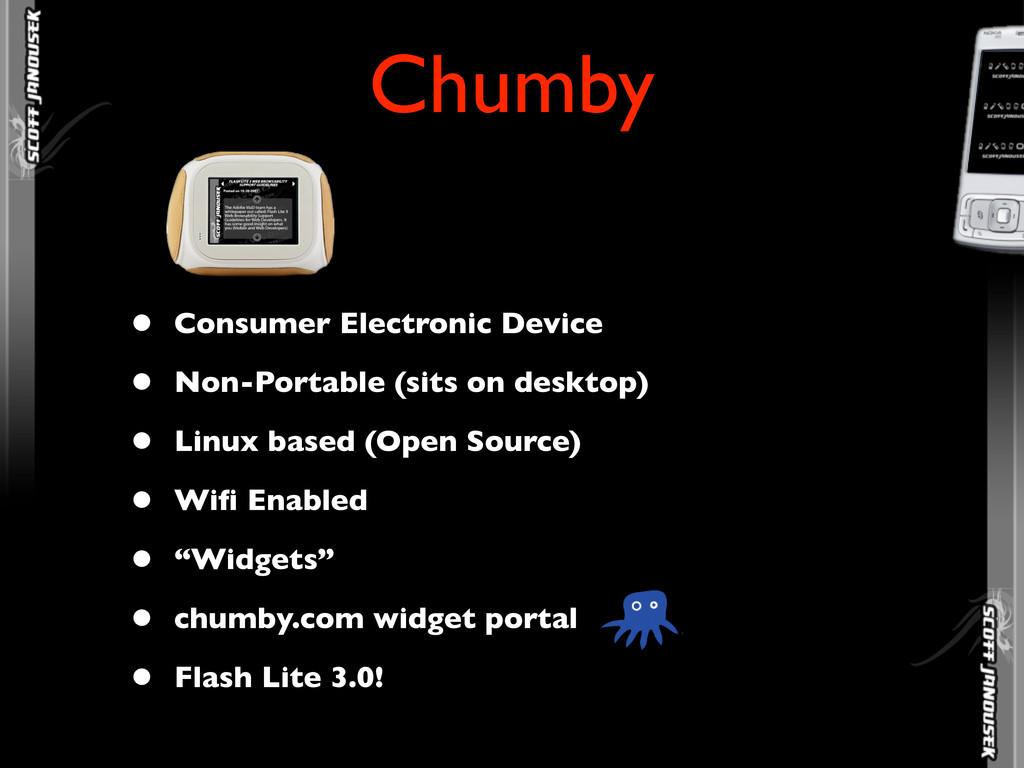• Consumer Electronic Device • Non-Portable (si...