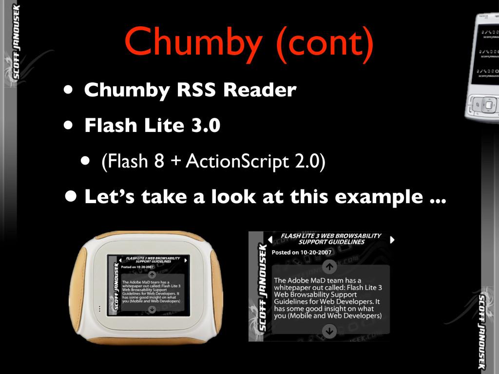 • Chumby RSS Reader • Flash Lite 3.0 • (Flash 8...